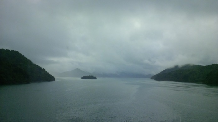 Approaching the South Island by ferry. The mist made me feel like I should see dragons flying in the distance.